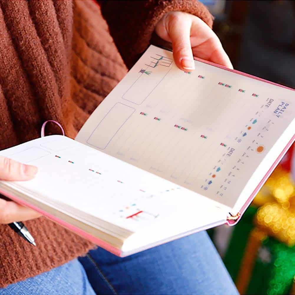 Agenda diario y organizador semanal sin fecha de Antopm