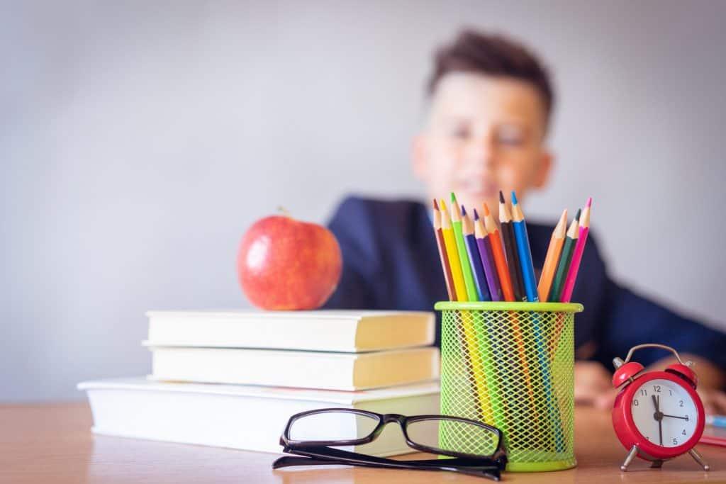 Los niños también usan agendas escolares