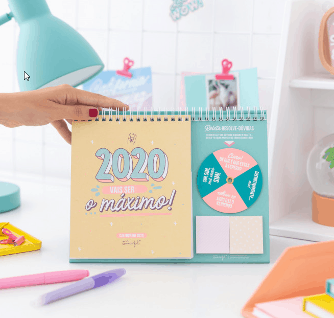 Calendario mesa de Mr Wonderful