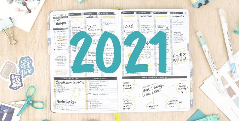 Agendas anuales 2021 que van a arrasar en amazon agendas